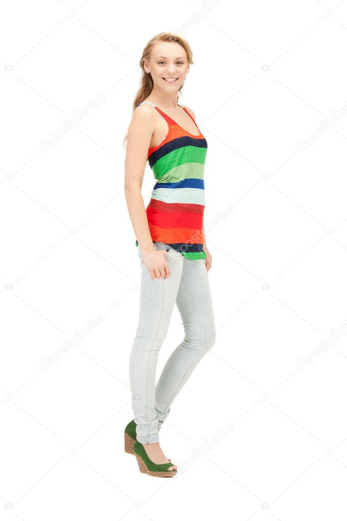 Bright picture of happy and carefree teenage girl — Stock Photo #6592719