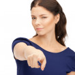 Businesswoman pointing her finger — Stock Photo #6634937