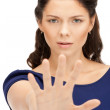 Woman making stop gesture — Stock Photo #6635058