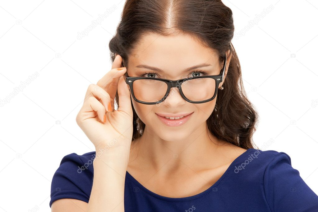 Closeup picture of lovely woman in spectacles — Stock Photo #6635081
