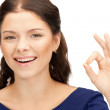 Lovely teenage girl showing ok sign — Stock Photo #6662311