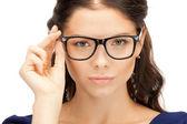 Mooie vrouw in bril — Stockfoto