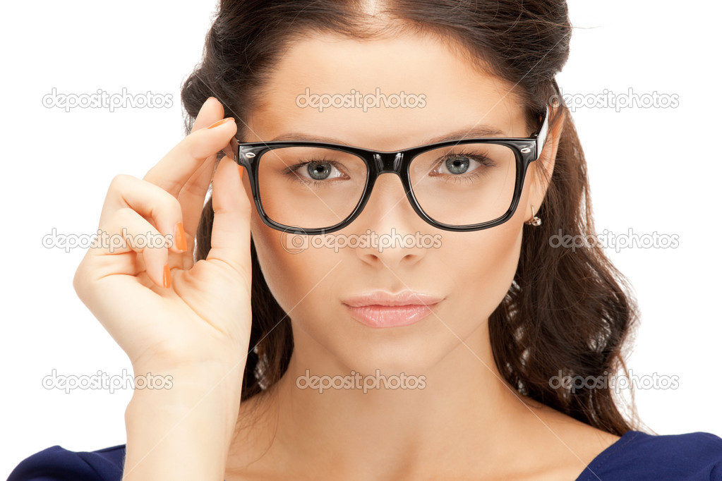 Closeup picture of lovely woman in spectacles — Stock Photo #6662510