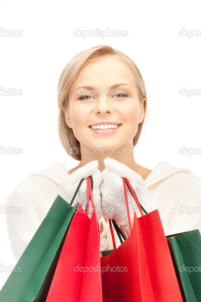 Picture of lovely woman with shopping bags  Stock Photo #6679715