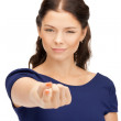 Businesswoman pointing her finger — Stock Photo #6690282