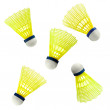 Badminton nylon Shuttlecock isolated on white - Stock Photo