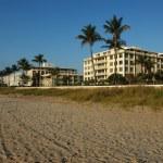 Hotels of Palm beach — Stock Photo