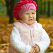 Toddler in autumn — Stock Photo