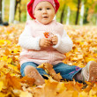 Autumn kid — Stockfoto