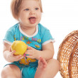 Baby with apple — Stock Photo #5759148