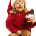 Girl in santa hat — Stock Photo #5759192