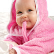Baby in pink — Stock Photo
