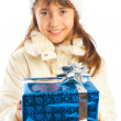 Stock Photo: Giving present