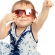 Little girl in sunglasses — Stock Photo #5759339