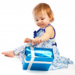 Toddler with present — Stock Photo #5759357