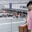 Girl at the airport — Foto de Stock