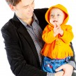 Smiley father and baby — Stock Photo
