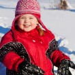 Playing in the snow — Stock Photo