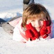 Smiling woman in the snow — Stock Photo #5759624