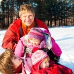 Weekend in winter park — Stock Photo