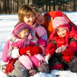 Stock Photo: Cheerful winter family