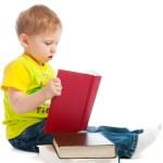 Boy reading books — Stock Photo #5759793