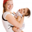 Playful mother and baby — Stock Photo #5759864