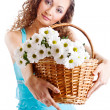 Royalty-Free Stock Photo: Girl giving flowers