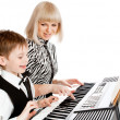 Playing piano — Stock Photo