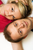 Attractive loving couple — Stock Photo