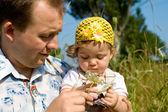 Dítě a otec — Stock fotografie