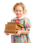Uczennica z książki — Zdjęcie stockowe