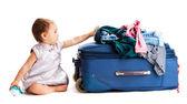 Koffer baby — Stockfoto