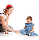 Undervisning dotter — Stockfoto
