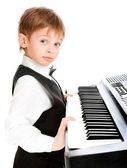 Prodigy pianist — Stock Photo