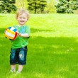 Boy with a ball — Stock Photo #5760131
