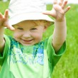 Toddler in the meadow — Stock Photo