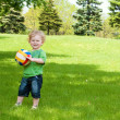 Stock Photo: Boy with ball
