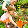 Little gardener - Foto Stock