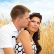 Couple in wheat — Stock Photo #5760315