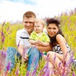 Stock Photo: Family in meadow