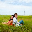 Stock Photo: Meadow couple