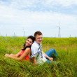 Meadow couple — Stock Photo