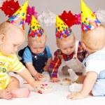 Birthday cakes — Stock Photo