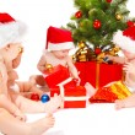 Santa babies — Stock Photo #5760995