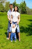 Familie spelen — Stockfoto