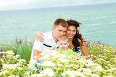 夏の家族 — ストック写真
