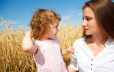Mother and daughter talking — Stock Photo