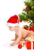 Kid in Cristmas hat — Stock Photo