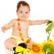 Royalty-Free Stock Photo: Sunflower baby